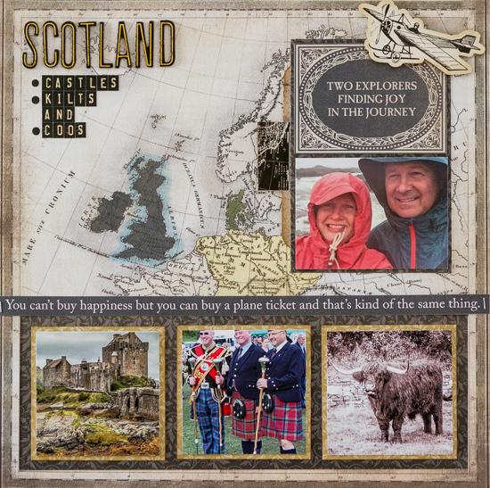 @csmscrapbooker @kdgowdy @echoparkpaper #scrapbooking #kimgowdy #transatlantictravel @tombowus @stampinup #scotland #castle #kilt #coos #explore ©KimberleyGowdy
