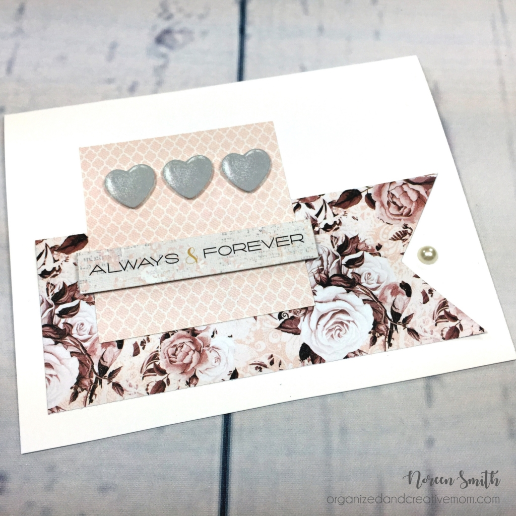 @csmscrapbooker @noreenhsmith @cmgroup #creativescrapbookermagazine #csmscrapbooker #noreensmith #creativememories #cardmkaing #cards #basicardmaking #foreveryourcollection #foamsquares #creaitvememoriesfoamsquares #weddingcards #weddingstationary #heartembellishments #banneroncards #alwaysandforever