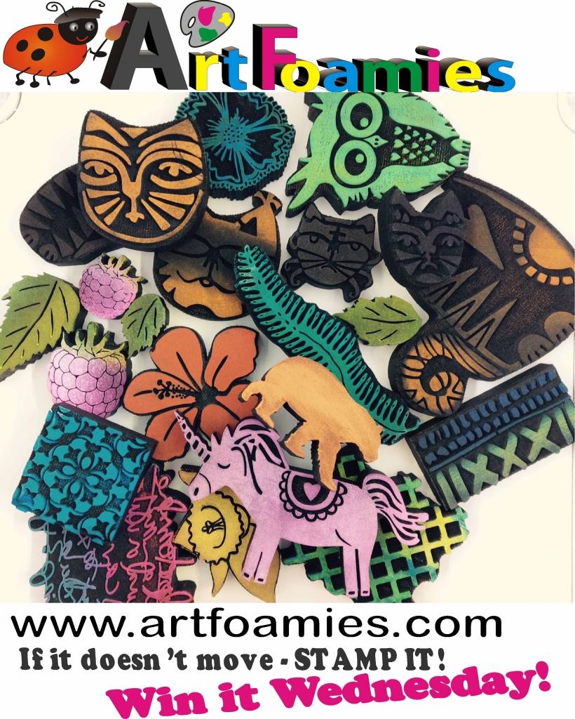 @csmscrapbooker @artfoamies #csmscrapbooker #creativescrapbookermagazine #artfoamies #artstamps #foamstamps #stamping #papercrafting #scrapbookinggiveaways #whynotwinwednesday #wnww