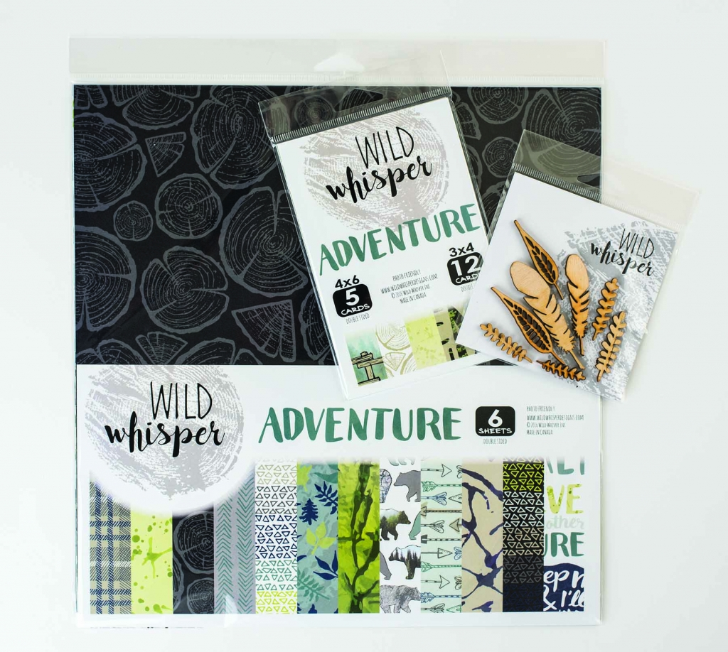 @csmscrapbooker @wildwhisperdesigns #creativescrapbookermagazine #wildwhisperdesigns #adventurecollection #adventurescrapbookingproducts #stumpillustrationsonpatternedpaper #bearpatternedpaper #featherlasercutchipboard #featherchipboard #adventurejournalingcards #canadianscrapbookcompany #outdoorthemedpatternedpaper