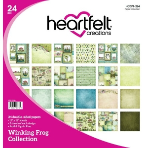 @csmscrapbooker @heartfeltcreations @hcemnalou #creativescrapbookermagazine #csmscrapbooker #heartfeltcreations #winkingfrogcollection #scrapbookingsupplies #frogthemedsupplies #frogsonpatternedpaper #tadpoles #funfrogpaper