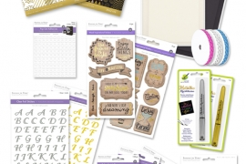 @csmscrapbooker MultiCraft prize package for paper crafters or scrapbookers. Including stickers, paper, pens, adhesives, gems, ribbon