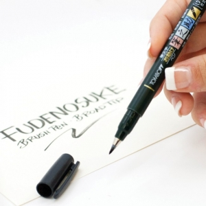 @csmscrapbooker @tombowusa #creativescrapbookermagazine #csmscrapbooker #tombow #fudenosuke #handlettering #pensforscrapbooking #journaling #journalling #journallingpens #pensforjournaling