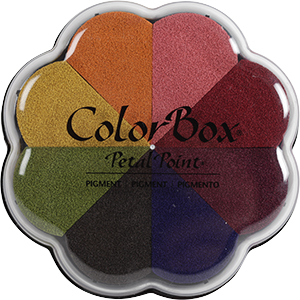 Petal point ink pad by Clearsnap with a variety shades of ink.