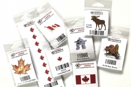 Collection of Canadian themed rubber stamps from Frog's Whiskers Ink @csmscrapbooker
