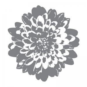 Wood mounted rubber stamp from Stampin' Up! called definitely Dahlia - flower stamp