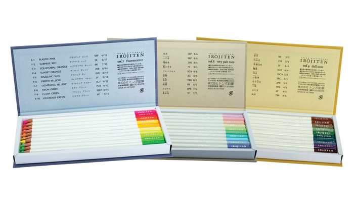 Tombow Irojiten pencil crayons - three packages including all their colors