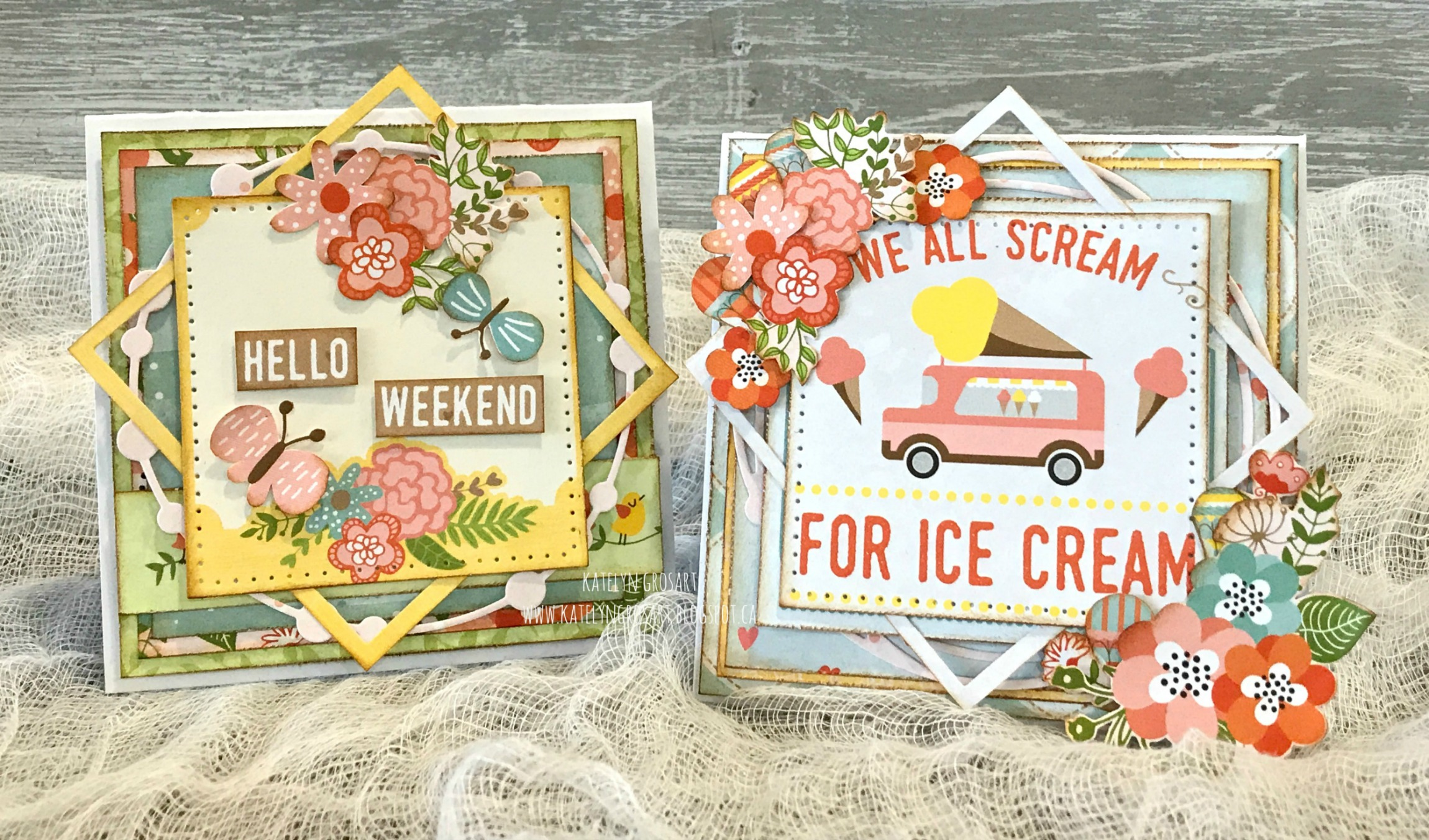 Scrapbooking | Cards | Featuring BoBunny Weekend Adventures Collection | Note Cards