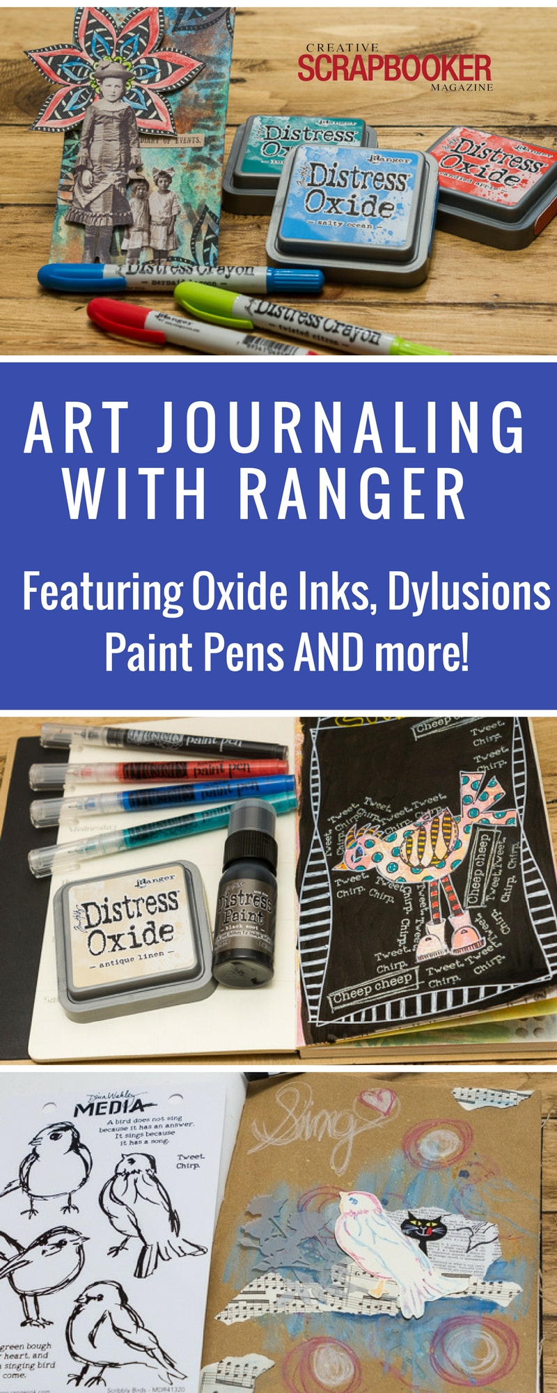 Art Journaling with Ranger Products.