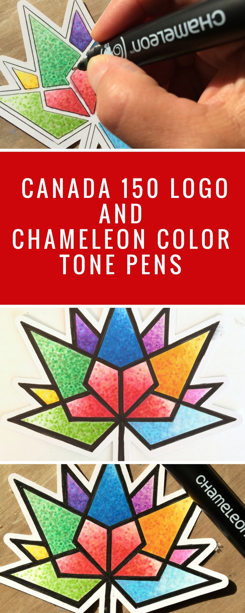 Canada 150 Logo | Design With Chameleon Pens | Download FREE Canada 150 Logo | Adult Coloring