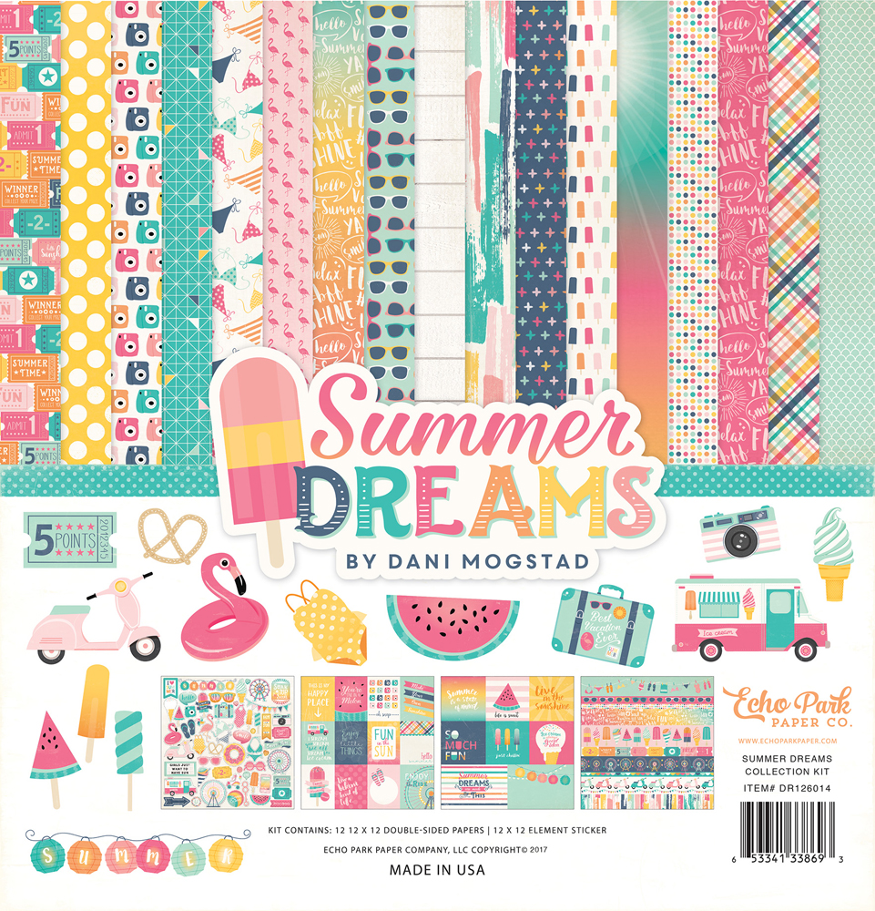 Echo Park Paper Co. Summer Dreams scrapbooking collection.