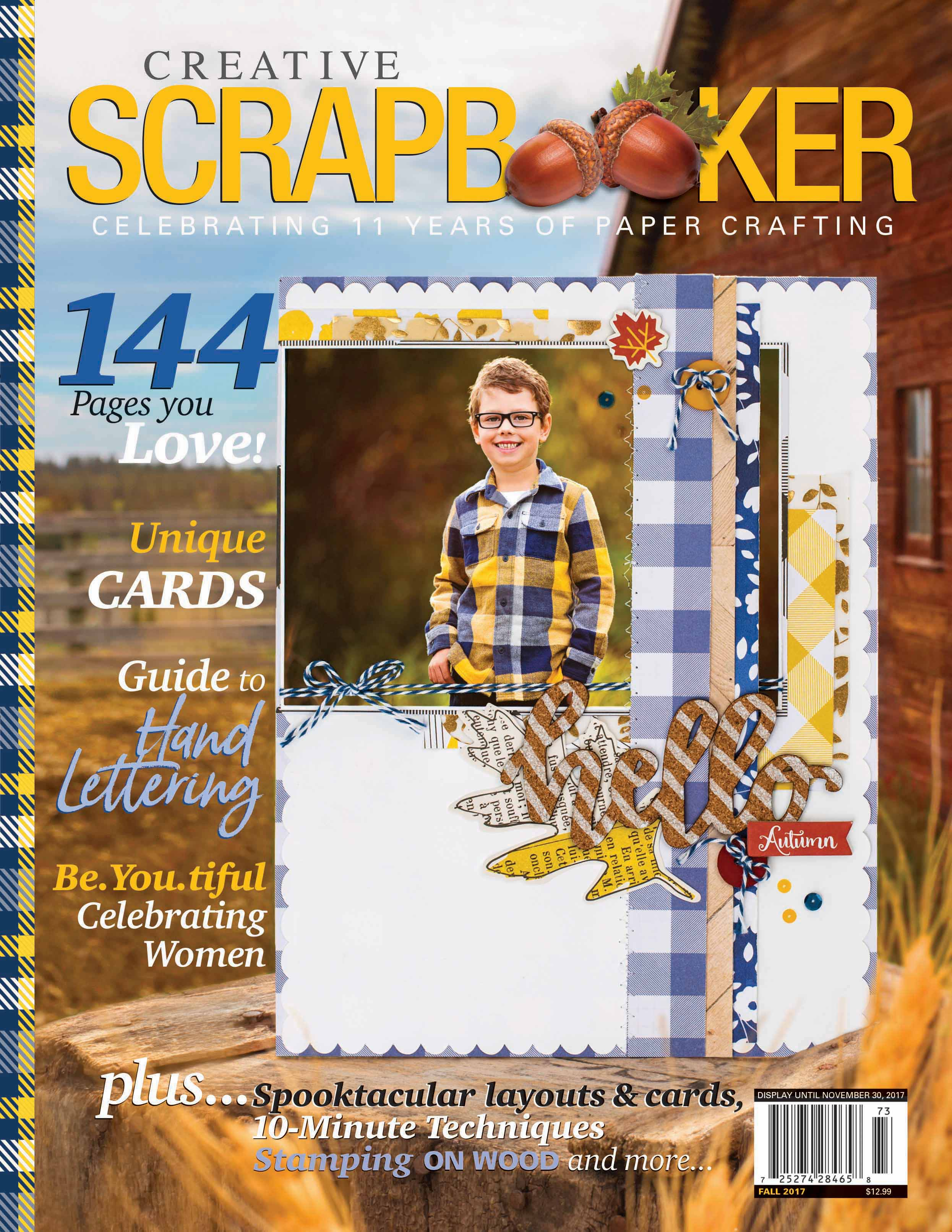 Fall 2017 Creative Scrapbooker Magazine Cover