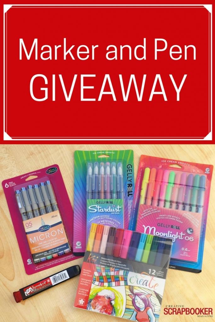 WIN WIN WIN | Sakura Pens and Markers | Enter on the Creative Scrapbooker Magazine Blog