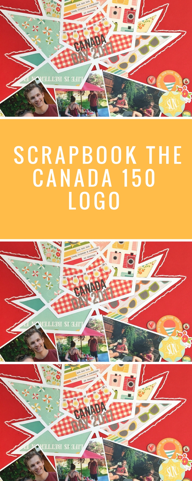 Scrapbook the Canada 150 Logo | Download FREE Canada 150 Logo | 12X12 Scrapbook Layout | Creative Scrapbooker Magazine