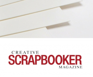Paper crafting heavy weight cardstock from Creative Scrapbooker Magazine