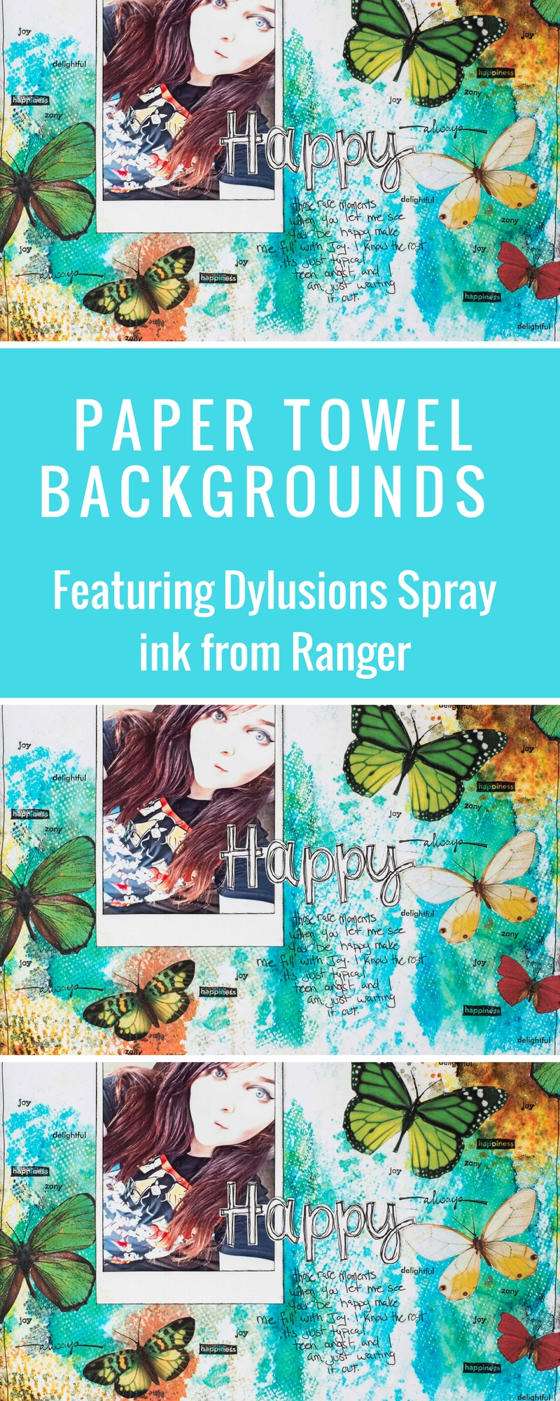 Scrapbooking | Dylusions Spray Ink | Ranger | Creating Backgrounds | Creative Scrapbooker Magazine