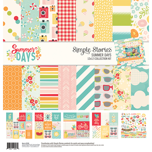 Collection of scrapbooking supplies by Simple Stories called Summer Days