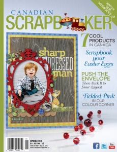 Spring 2012 Creative Scrapbooker Magazine Cover.
