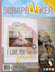Spring 2013 Creative Scrapbooker Magazine Cover