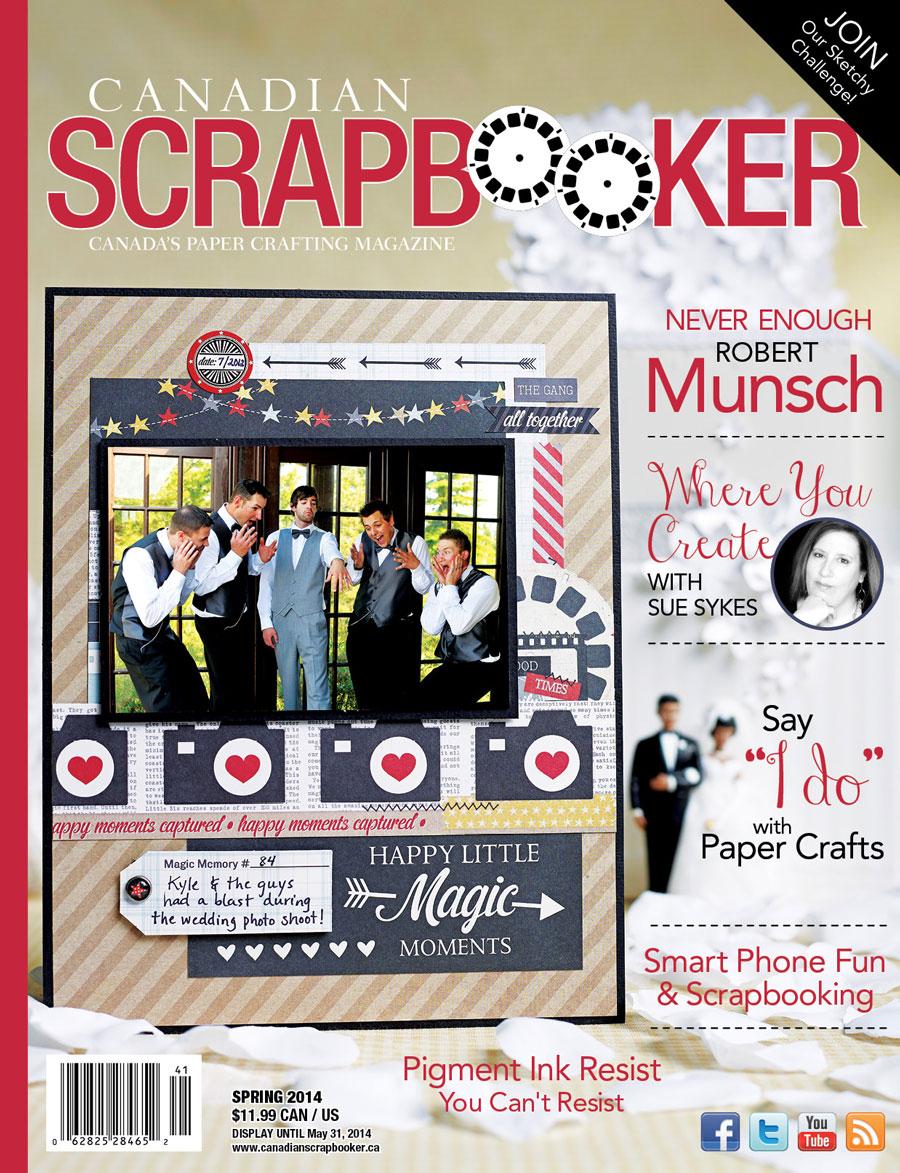 Spring 2014 Creative Scrapbooker Magazine Cover