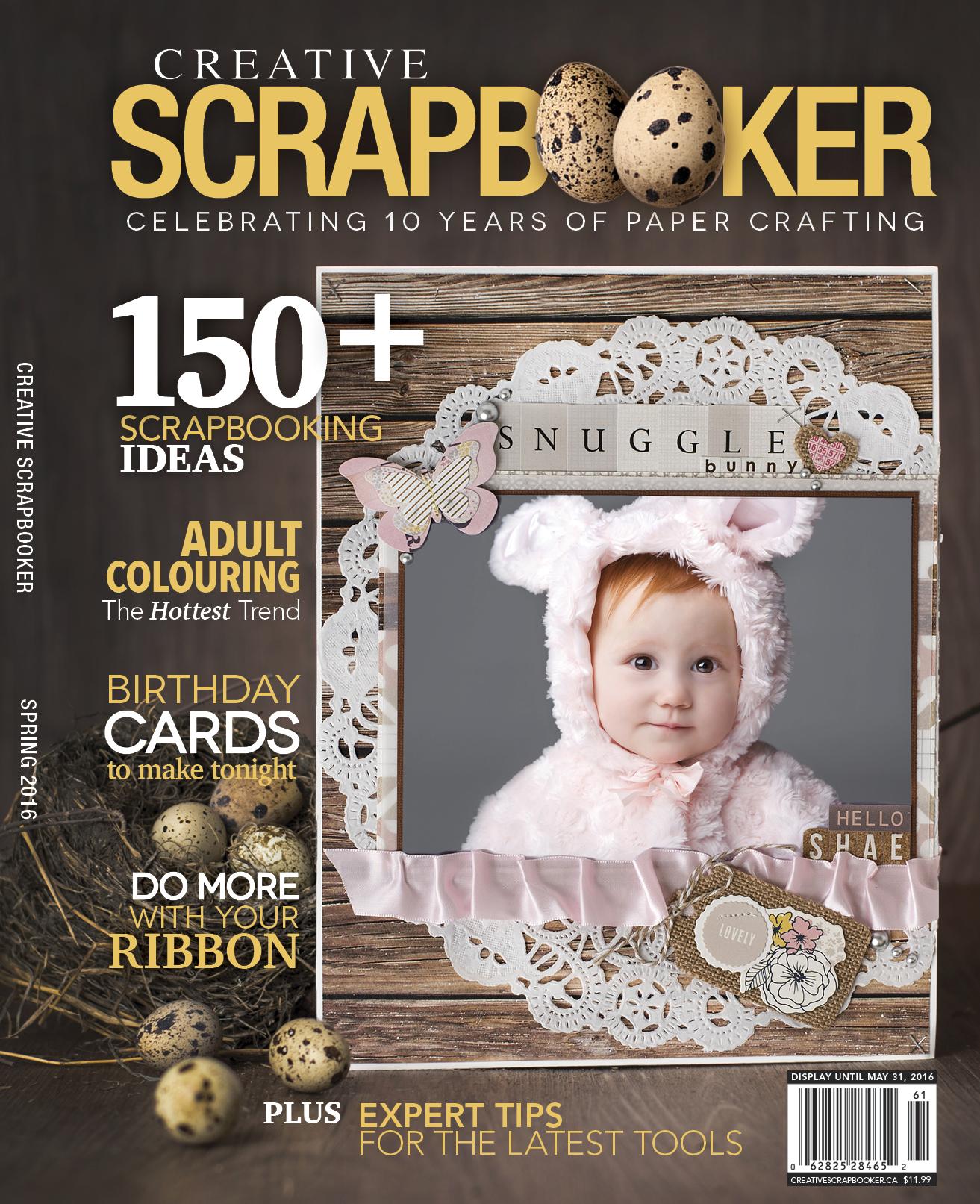 Spring 2016 Creative Scrapbooker Magazine Cover