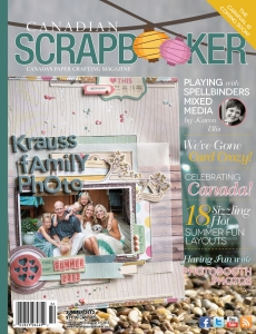 Summer 2013 Creative Scrapbooker Magazine Cover