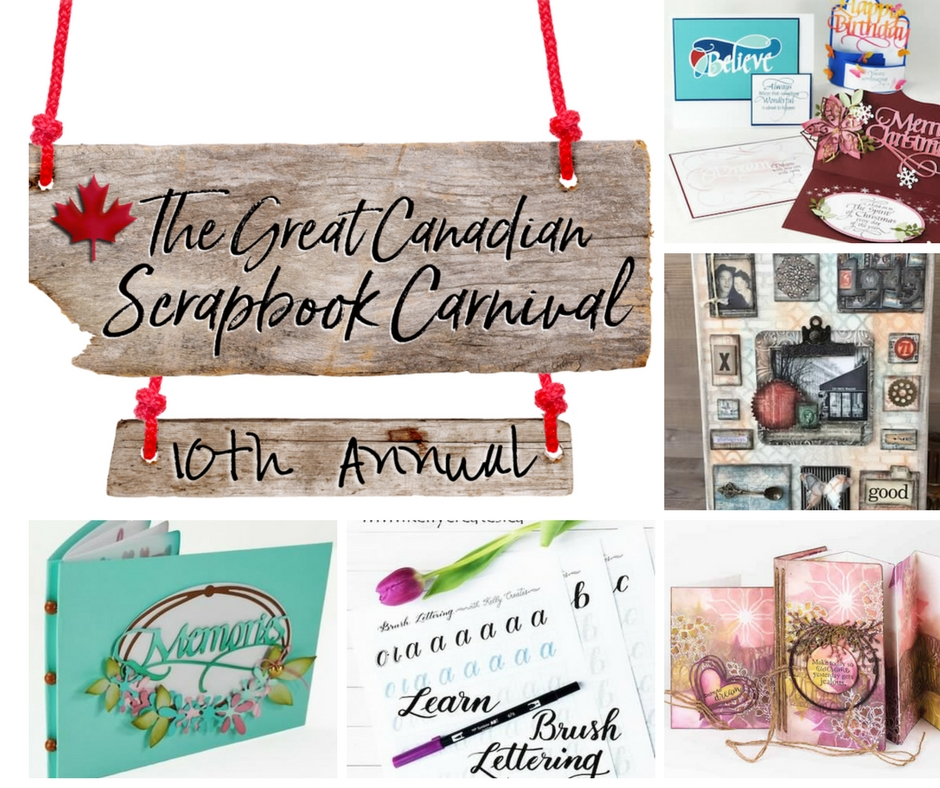 Scrapbooking class projects at The Great Canadian Scrapbook Carnivals in Edmonton and Calgary