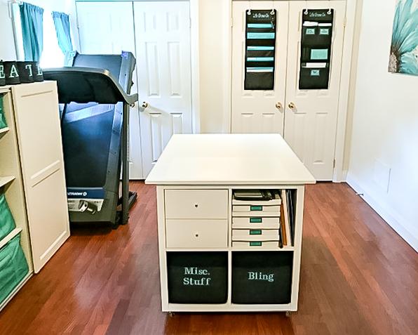 workstation island with storage