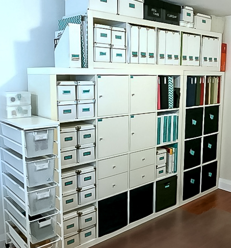 wonderful storage unit for boxes and bins