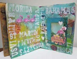 Hurricane Irma | Art Journalling for Therapy | Designed by Karen Ellis | Featuring Heartfelt Creations and Ranger | Creative Scrapbooker Magazine