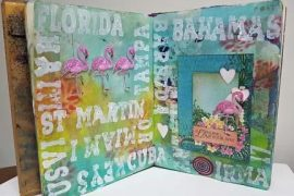 Hurricane Irma | Art Journalling for Therapy | Designed by Karen Ellis | Featuring Heartfelt Creations and Ranger | Creative Scrapbooker Magazine