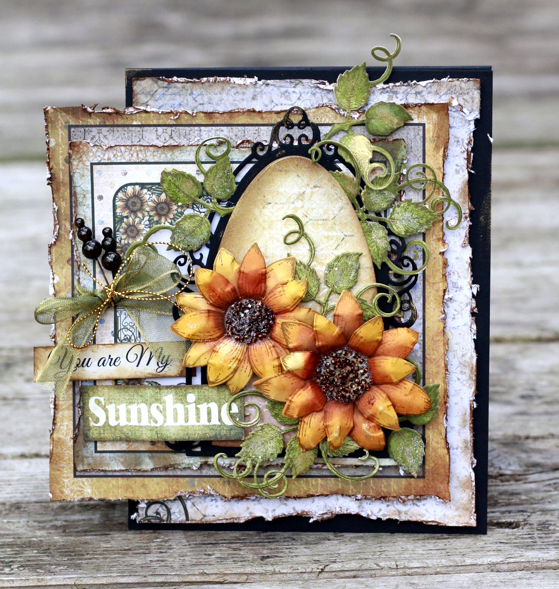 Card Making | Fall Scrapbook Card | Stamping | Featuring Heartfelt Creations | Designed by Karan Gerber | Creative Scrapbooker Magazine