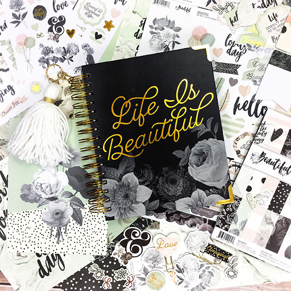Planner | Scrapbooking You Planner | DIY Planner | Spiral Planner | Featuring Simple Stories | Designed by Leah O'Neil | Creative Scrapbooker Magazine #planners #journal