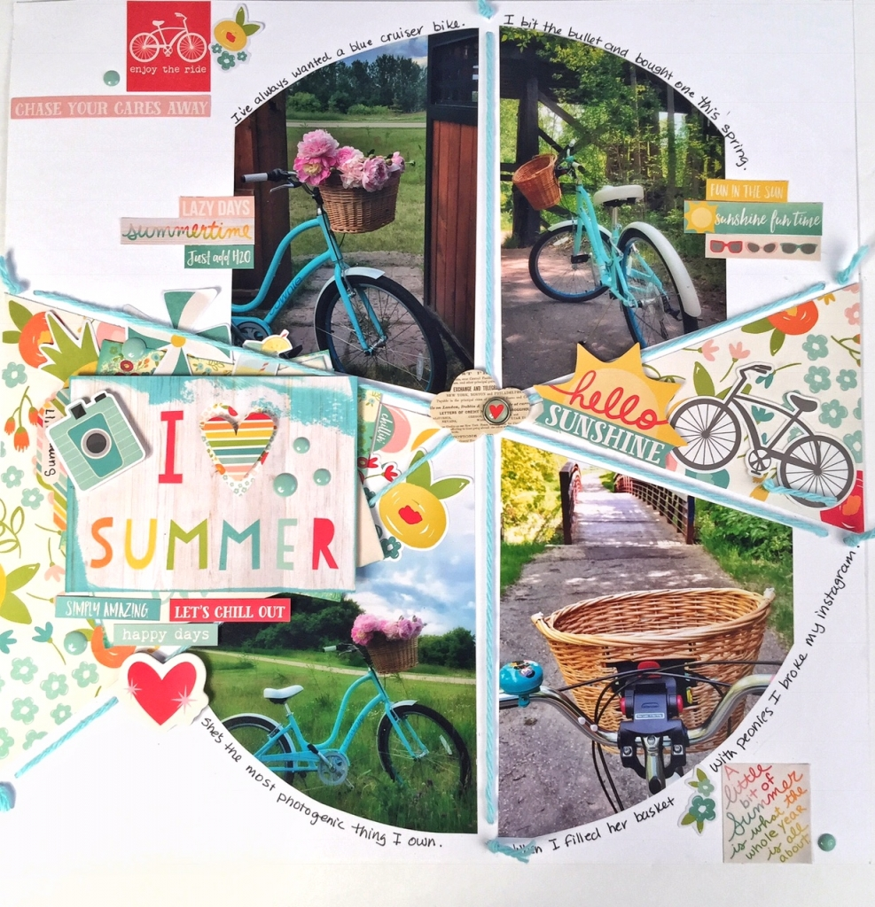 Scrapbook Layout | Based on a Sketch | Simple Stories Summer Days Collection | Kerry Engel | Creative Scrapbooker Magazine