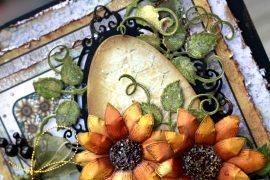 Sunflower Embellishments featuring Heartfelt Creations   Card Making
