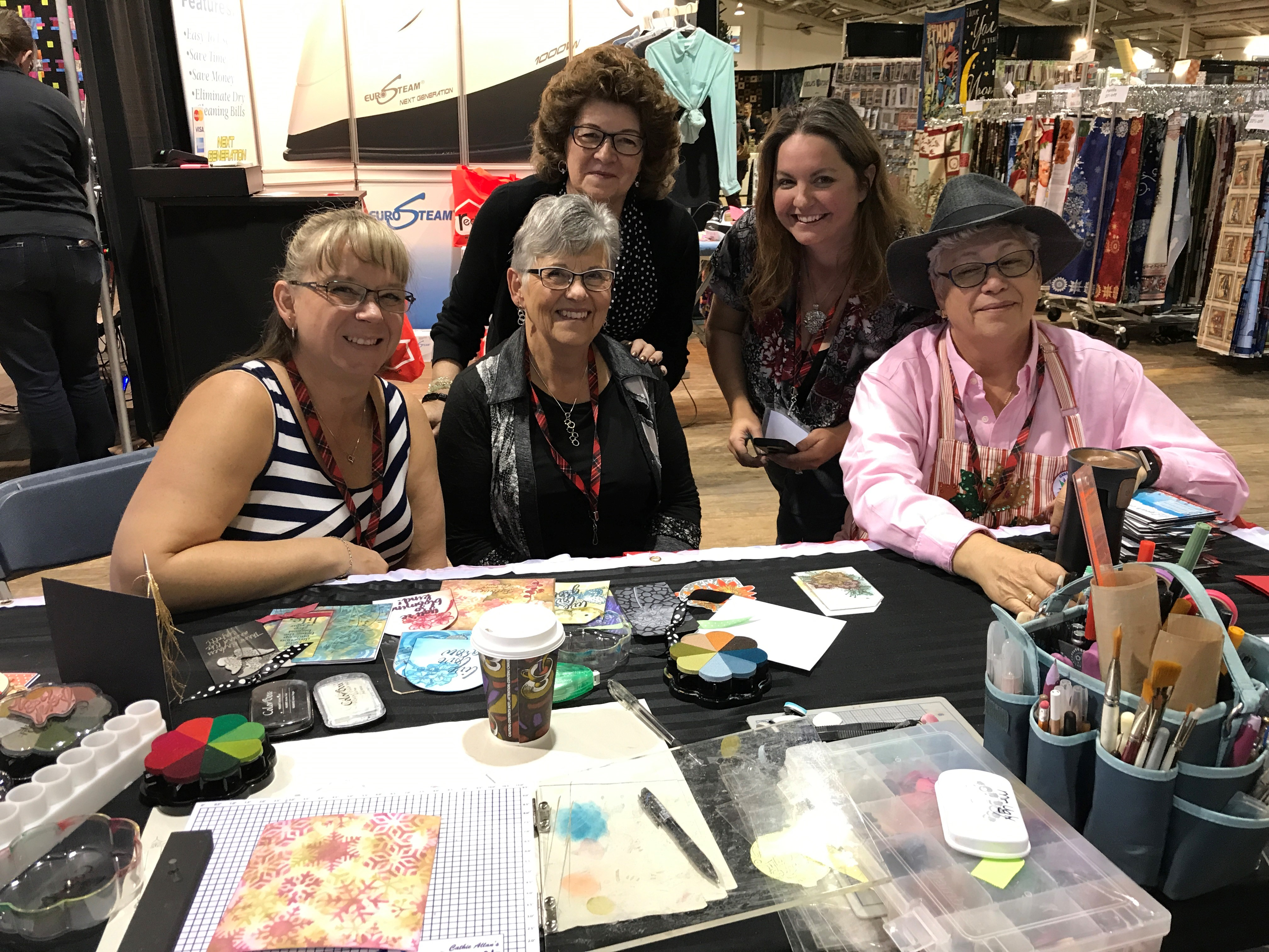 Stamping Demos at The Great Canadian Scrapbook Carnivals with Cathie Allan