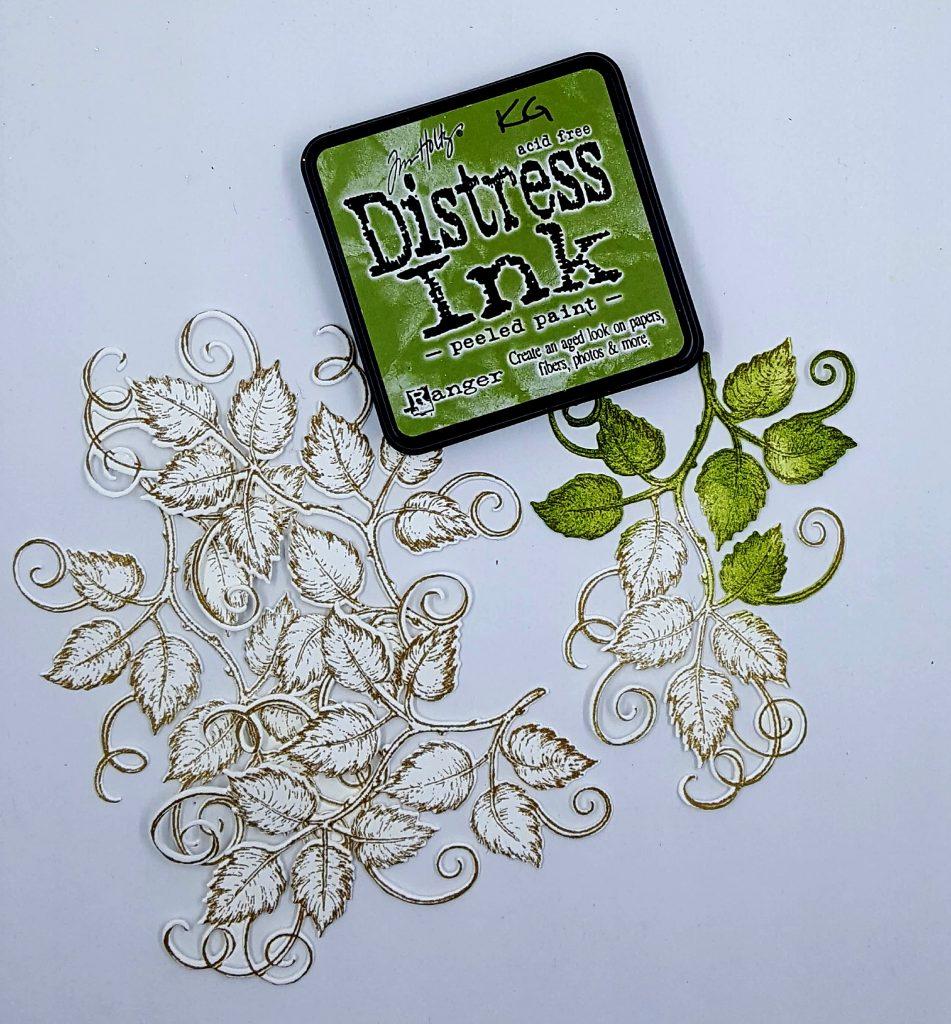 Leaves Die Cuts by Heartfelt Creations | Ranger Distress Ink | Card Making