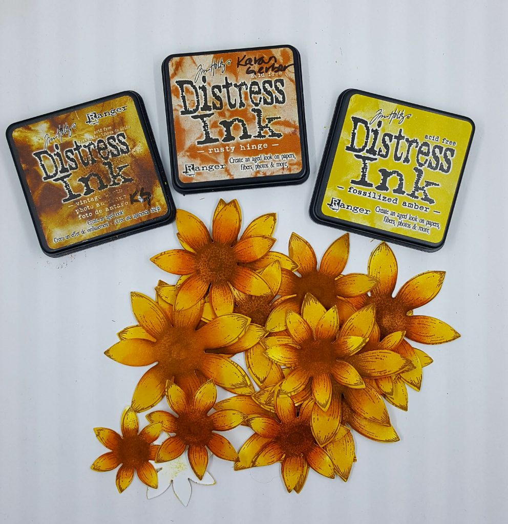 Sunflower Stamps by Heartfelt Creations | Ranger Distress Ink | Card Making | Sunflowers