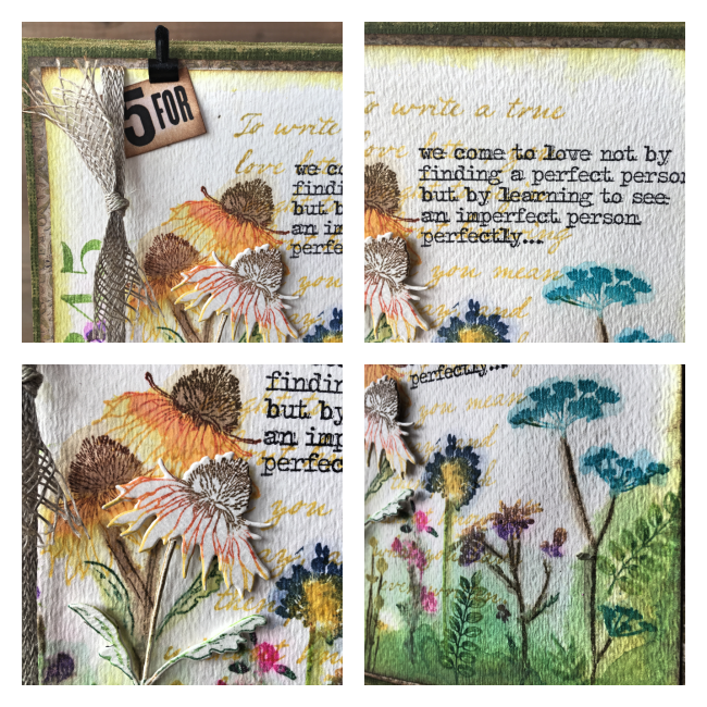 Card Making | Step By Steps | Featuring Ranger Mini Archival Ink | Designed by Nicole Wright
