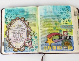 Bible Art Journal | Designed by Christy Riopel | Featuring products from BoBunny and Ranger | Art Journaling | Creative Scrapbooker Magazine #bible #art #journaling