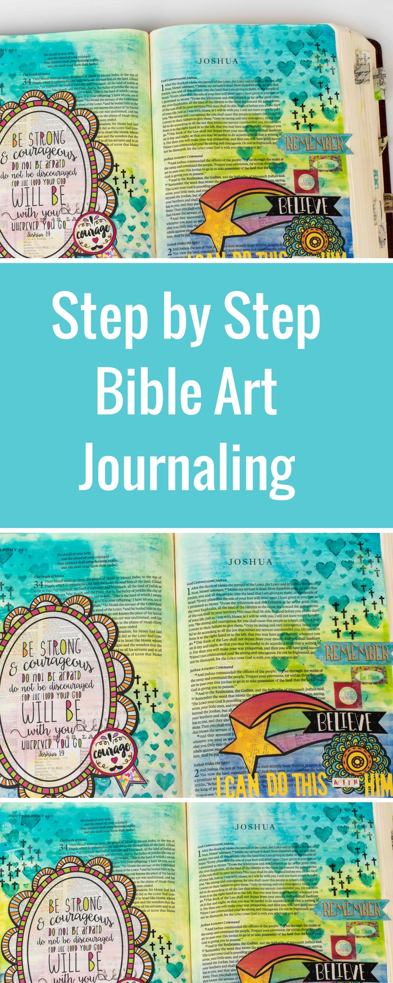 Bible Art Journaling | Featuring Ranger and Bo Bunny | Designed by Christy Riopel | Creative Scrapbooker Magazine #bible #art #journaling