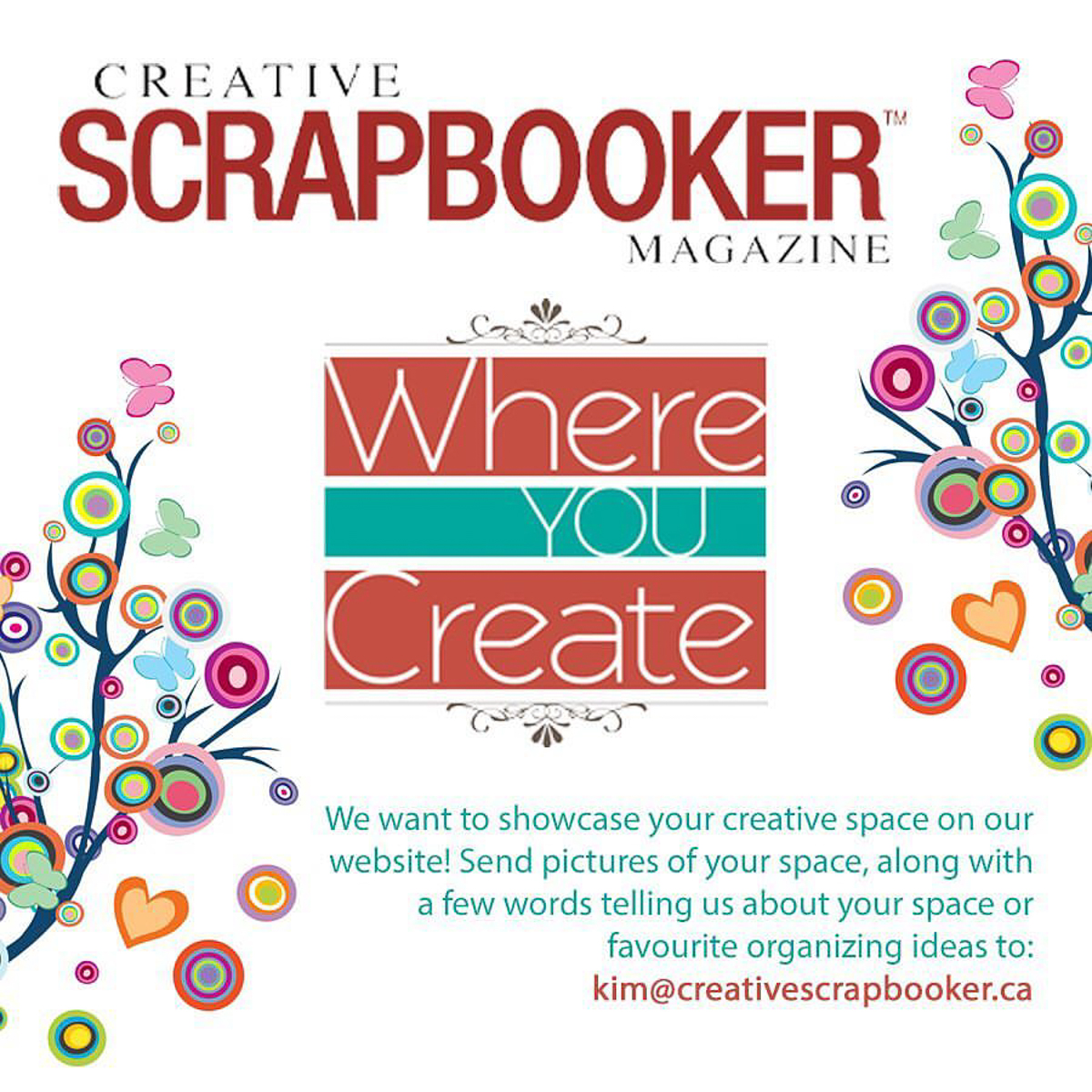 WHERE YOU CREATE/submissions/organize/Creative Scrapbooker Magazine/creative spaces