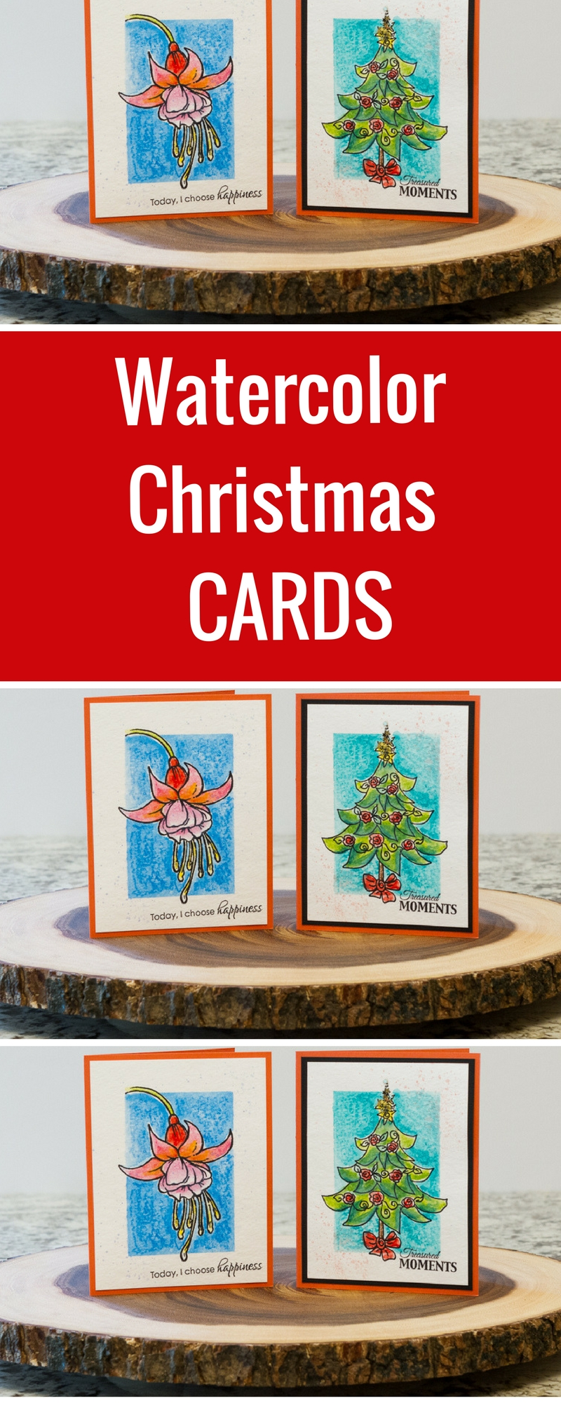 Card Making | Christmas Cards | Scrapbooking | Featuring Stabilo Woody 3-IN-1 | Designed by Kim Gowdy | Creative Scrapbooker Magazine