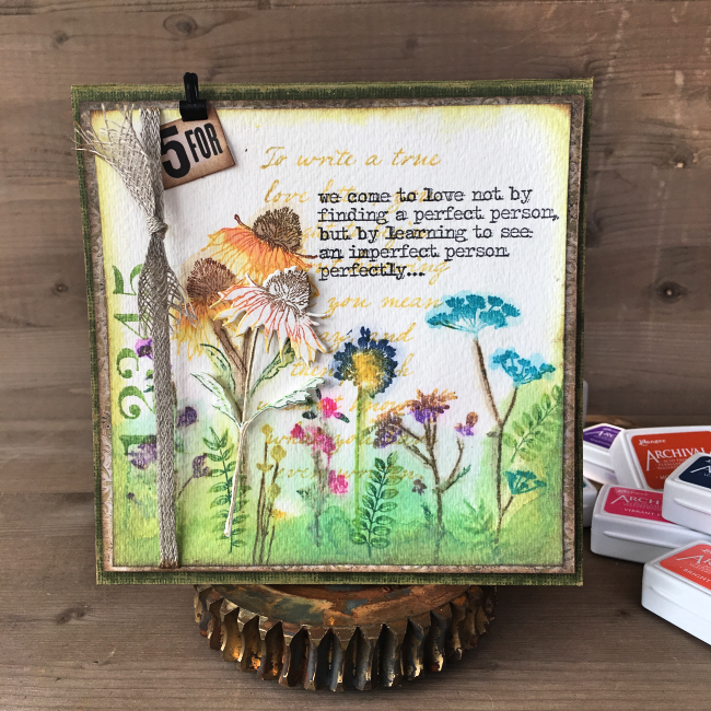 Card Making | Featuring Ranger Mini Archival inks | Designed by Nicole Wright | Creative Scrapbooker Magazine