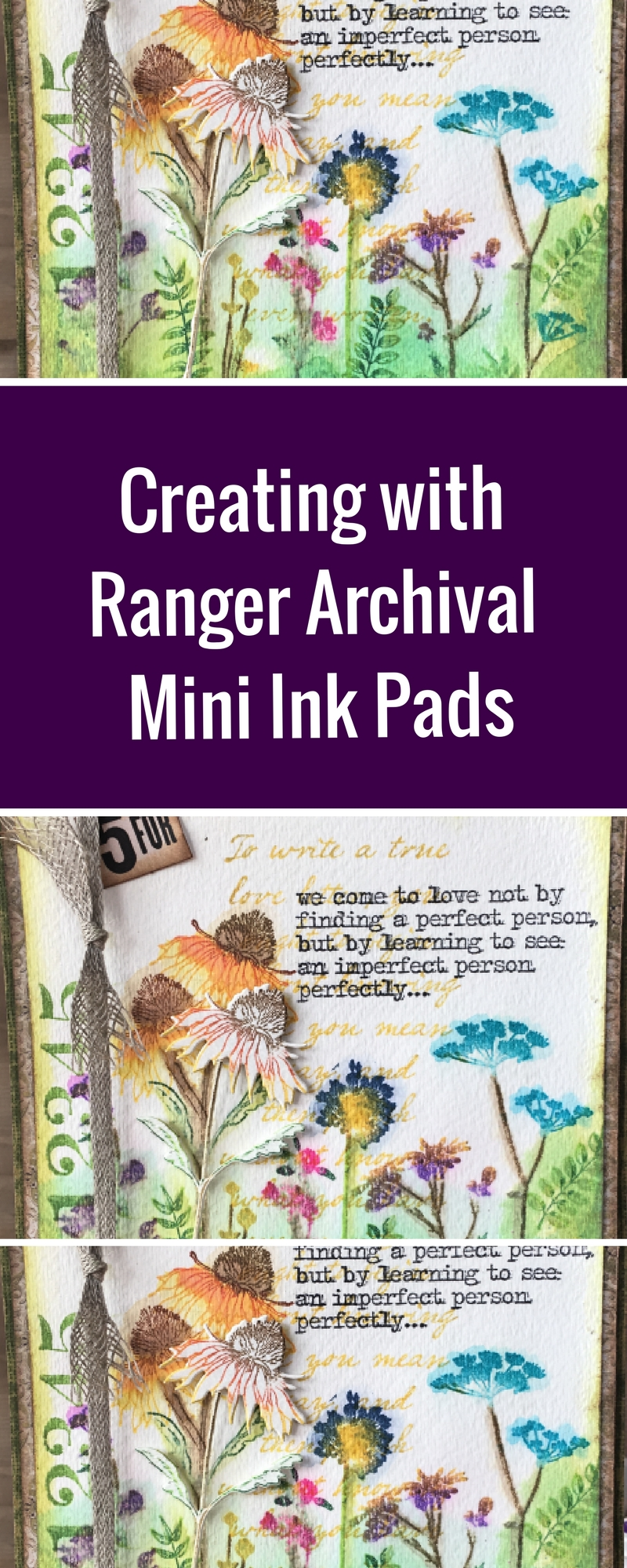 Card Making | Watercolor | Featuring Ranger Archival Mini Ink Pads | Designed by Nicole Wright | Creative Scrapbooker Magazine