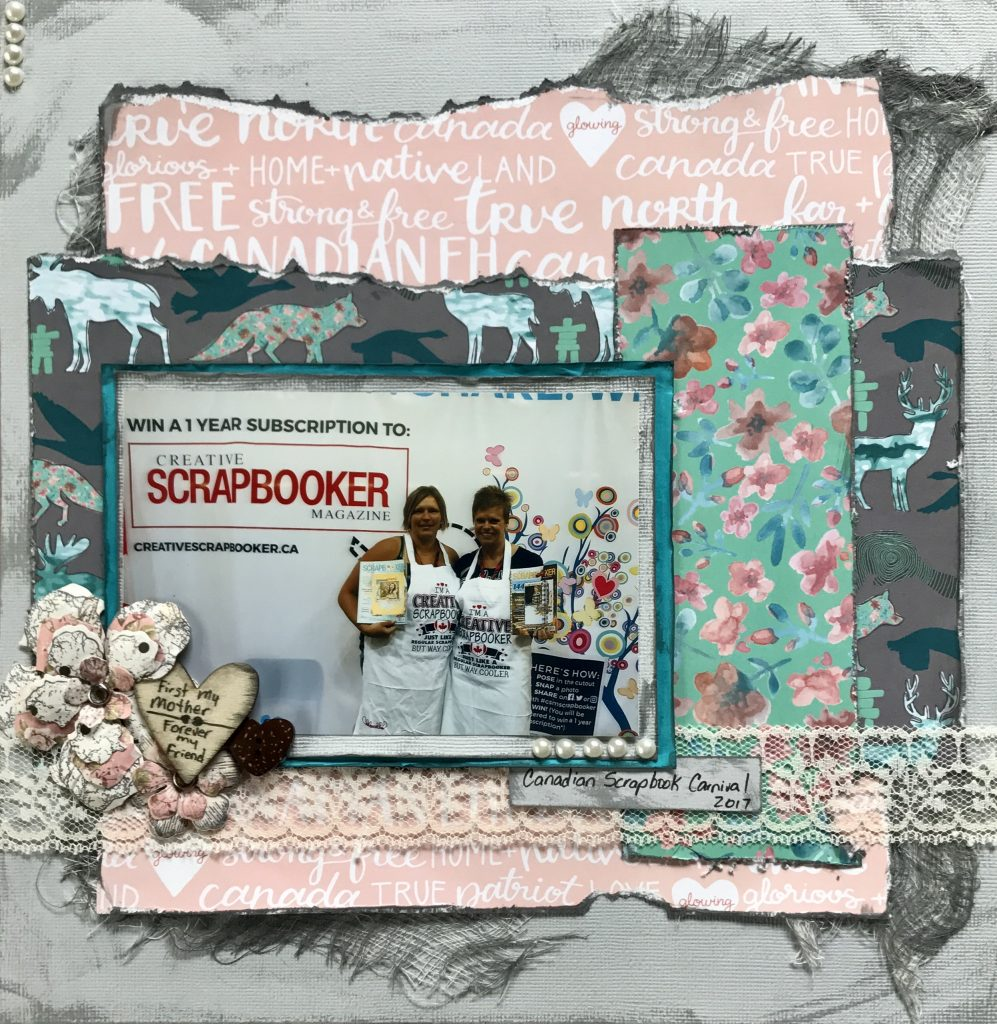 Scrapbook Layout | Designed by Natasha Livingston | Creative Scrapbooker Magazine
