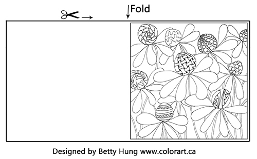 FREE Coloring Card | Adult Coloring | Sunflower Themed Card | Designed by Betty Hung | Creative Scrapbooker Magazine