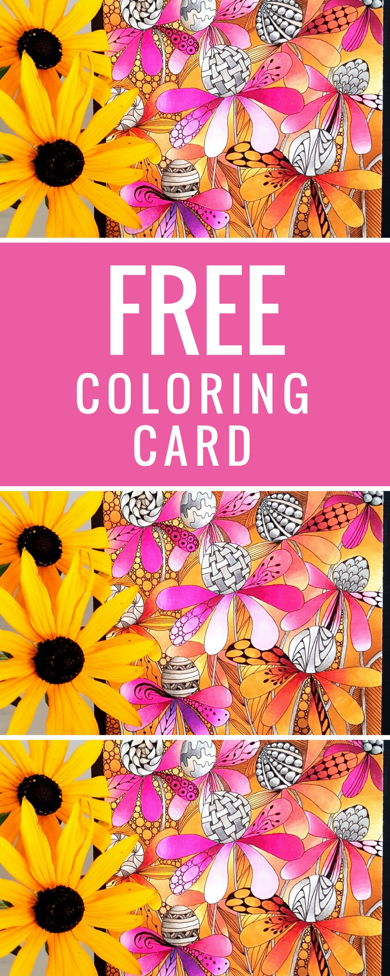 FREE Coloring Card   Adult Coloring   Designed by Betty Hung   Featuring Chameleon Color Tops   Creative Scrapbooker Magazine