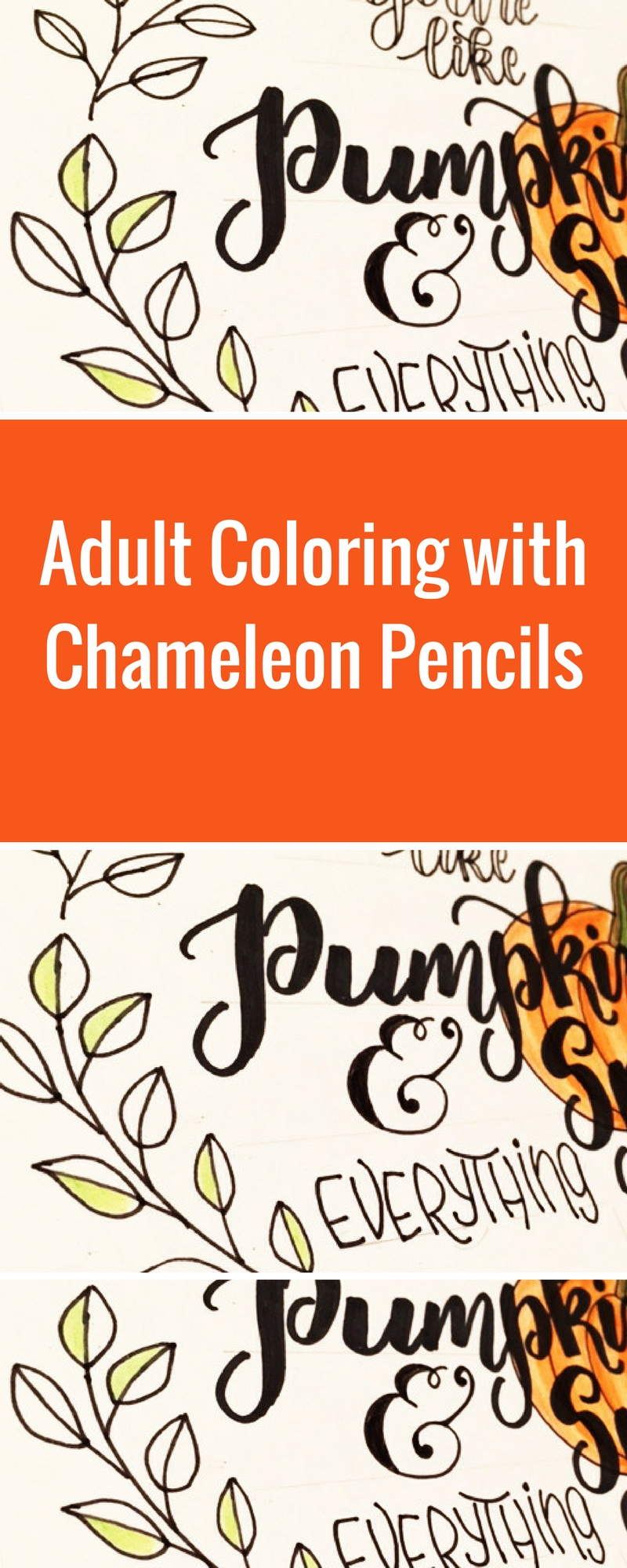 Adult Coloring | Fall Home Decor | Hand Lettering | Featuring Chameleon Pencils | Designed by Kelly Klapstein | Creative Scrapbooker Magazine #coloring #fall #homedecor
