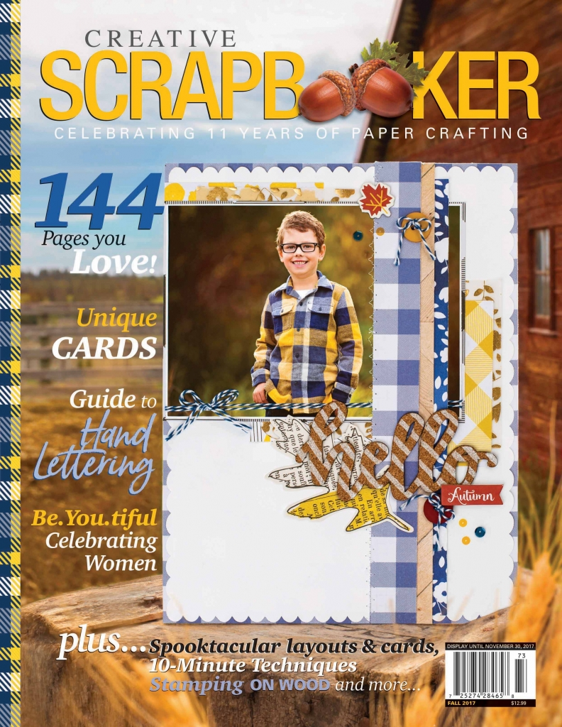 Creative Scrapbooker Magazine/fall issue/magazine/quarterly publication